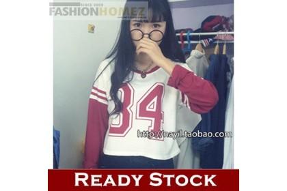 CLEARANCE   Fashionhomez 16398 Baseball Raglan Long-sleeved T-shirt