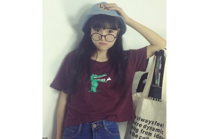 CLEARANCE   Fashionhomez 15190 Small Crocodile T-shirt