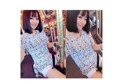 CLEARANCE   Fashionhomez 14079 Cartoon fairy tale Short-sleeved T-Shirt (blue)