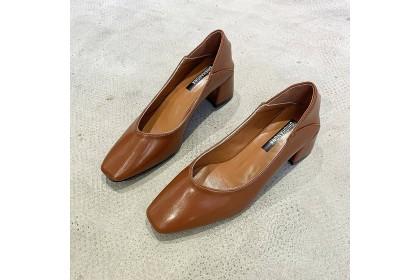 Fashionhomez 8158 Maria Square Heels ( size 35-41 ) - Standard Cutting