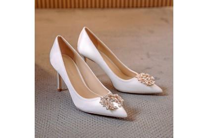 Fashionhomez 8225 Saloma Round & Square Diamond Wedding Heel ( size 34-40 )