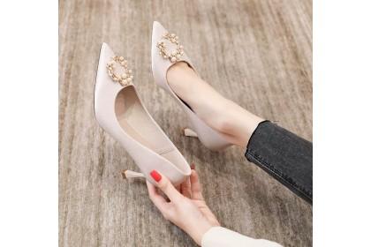 Fashionhomez 8225-A Saloma Round Pearl Wedding Heel ( size 35-40 )