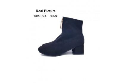 Fashionhomez 8239 Soona Square Zipper Boots ( size 36-40 )